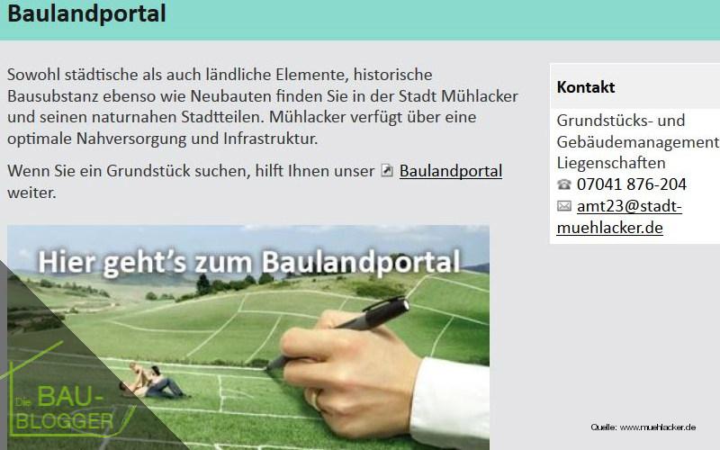 Bauplatzsuche: Onlinerecherche
