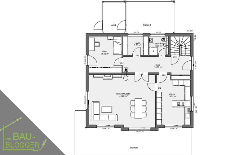 Architektur und Licht - EG Grundriss 1