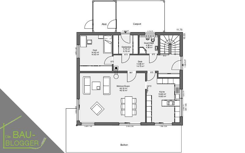 Architektur und Licht - EG Grundriss 2