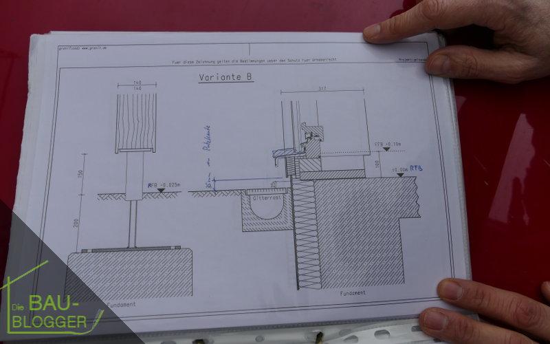 Bauleitergespraech -Zeichnung
