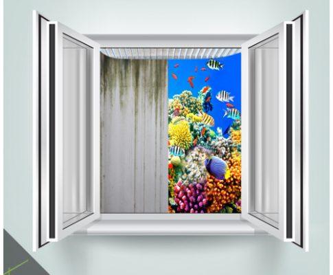 Lichtschacht-Design: Meeresblick im Keller