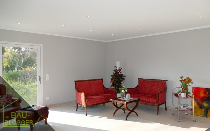 LED-Beleuchtung Sternenhimmel im Wohnzimmer